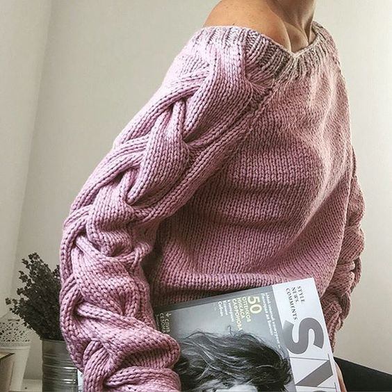 объемные рукава свитер