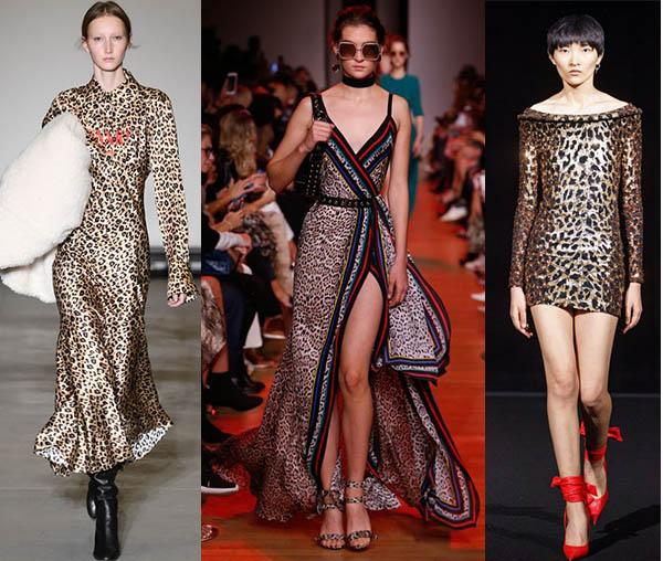 модные платья с хищным принтом леопард