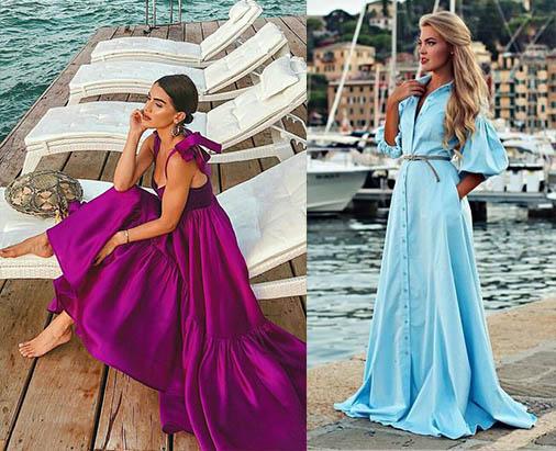 модные платья с воланами пышное