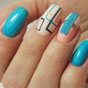 бирюзовый дизайн ногтей идеи 2020 года