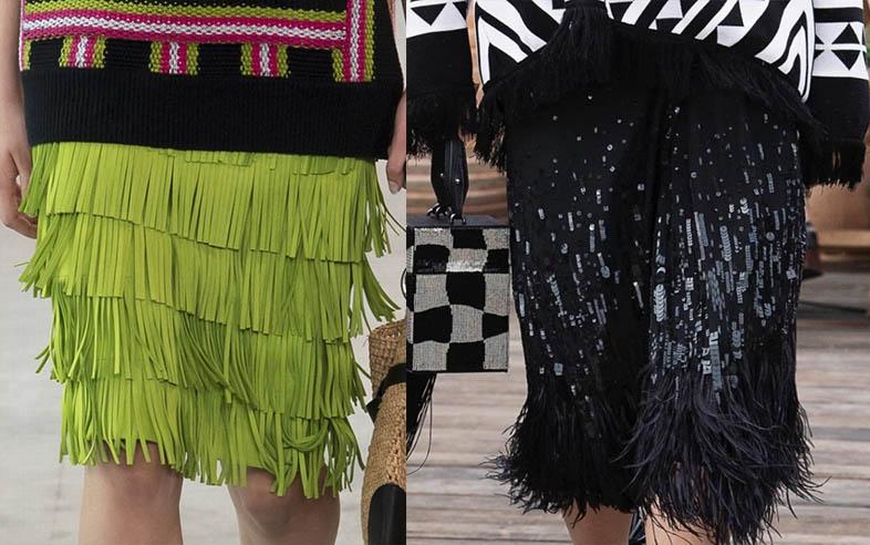 модные юбки с бахромой 2020-2021