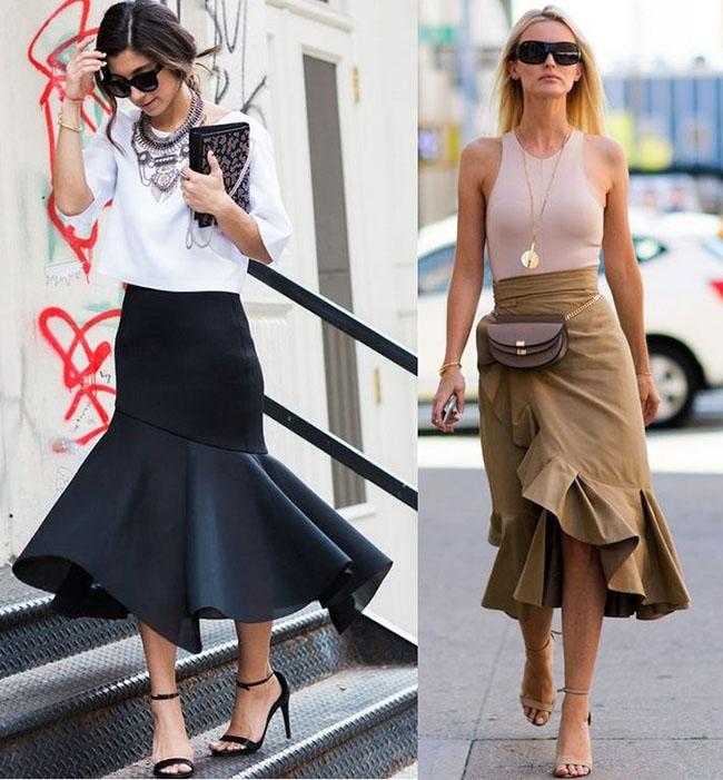 стильные юбки годе 2020-2021
