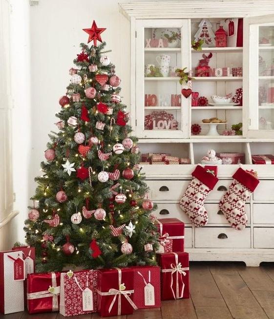 фото новогоднего декора елки