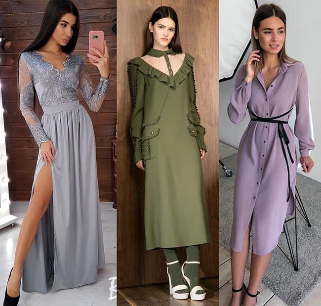 модные трикотажные платья 2020-2021 фото