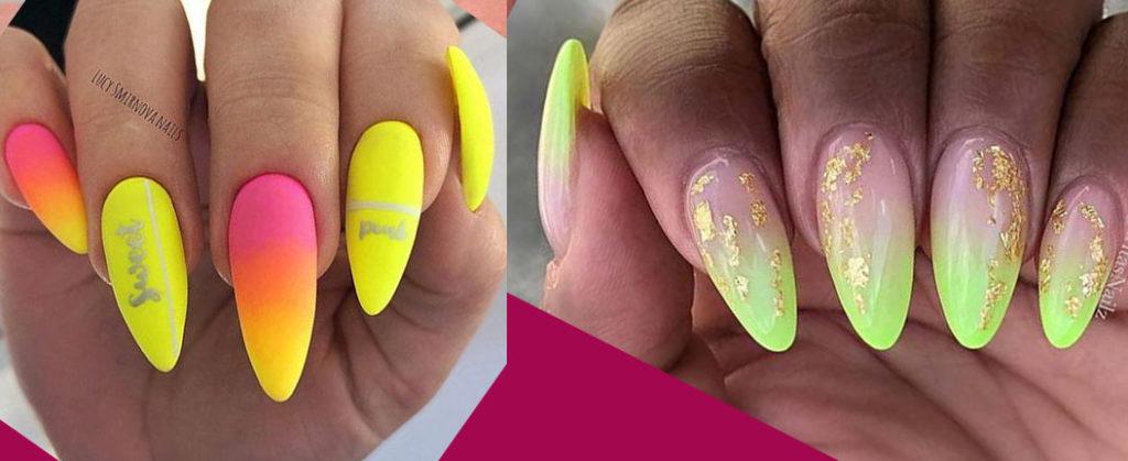 модный дизайн ногтей 2021 с листья и ветками